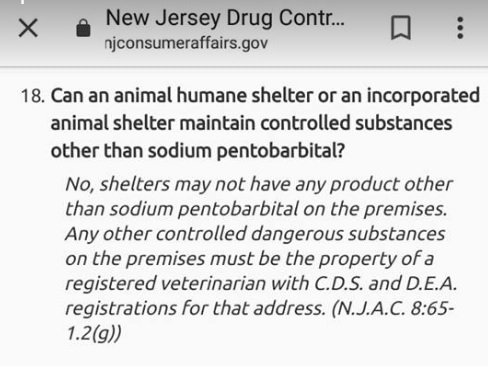 Animal Shelters Holding of Controlled Dangerous Substances