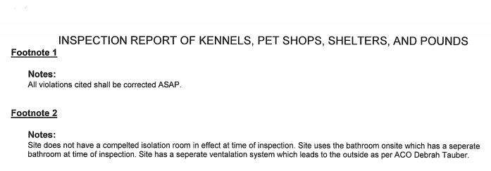 Clifton Animal Shelter Inspection Report Notes Part 2.jpg